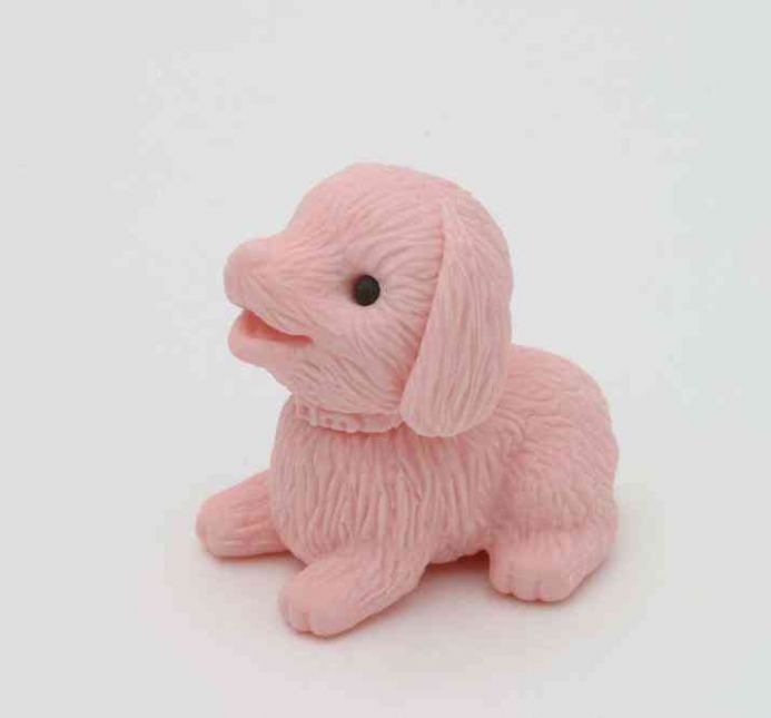 IWAKO NOVELTY ERASERS/RUBBERS - PINK PUPPY